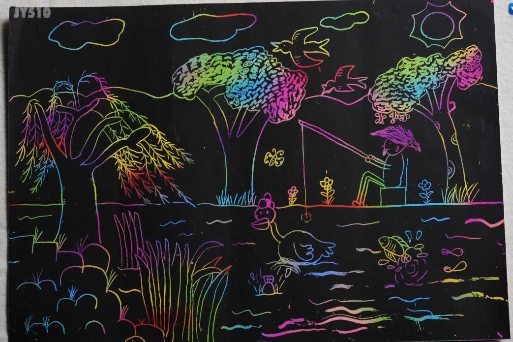 香樟园 桴树画社儿童画
