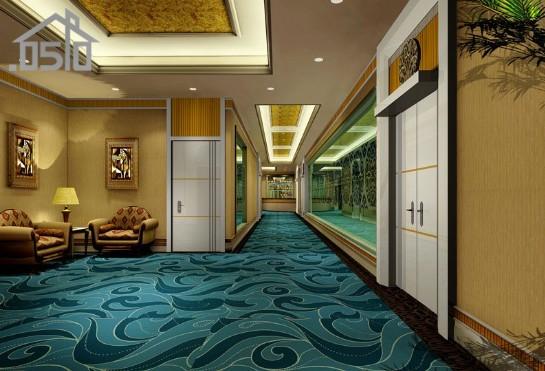 天洋洗浴中心走廊效果图装修设计